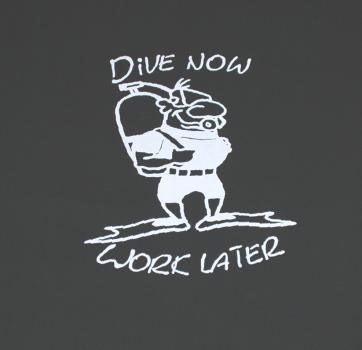 Diver T Shirt in sizes S -XXXXL made of 100% cotton